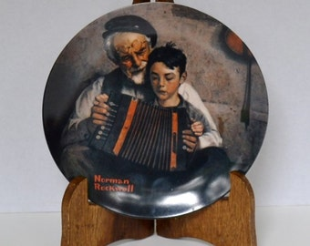 Knowles Norman Rockwell Collectible Plate The Music Maker 1981 Vintage Decor PanchosPorch