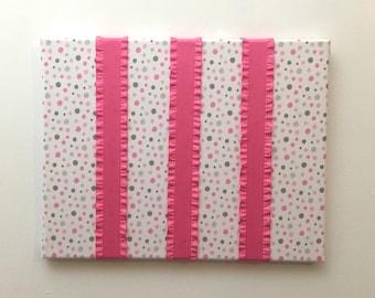 Pink kids hair bow holder girl nursery, toddler girl gifts, pink hair clip holder, girls hair accessory organizer