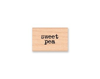sweet pea Rubber Stamp~Floral Flower Gardening ~ Wood Mounted Rubber Stamp (13-32)