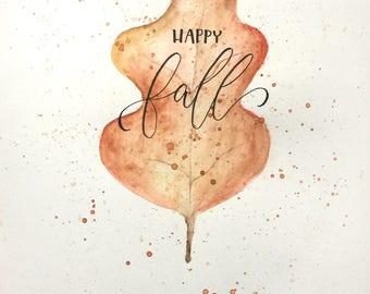 fall leaf original artwork
