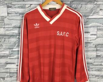 Vintage 90's ADIDAS France Jersey Medium Adidas Trefoil Sportswear Football Team Jersey Red Jersey Adidas Maglia Trikot Shirt Size M