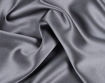 Silk satin Fabric Grey silk Supplies Gray Fabric by yard fabric Silk squares Silver bridal fabric Fat quarter silk materiral by the yard
