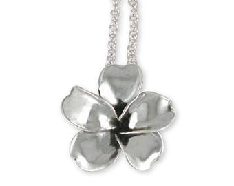 Plumeria Pendant Jewelry Sterling Silver Handmade Flower Pendant PLM2-P