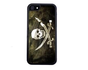 Grunge Pirate Flag Case Design For iPhone 5/5s, 5c, 6/6s, 6/6s Plus, 7, 7 Plus, 8 or 8 Plus.