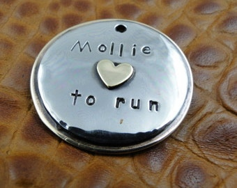 Personalized Pet ID Tag-Custom Dog ID Tag Loves to-Dog Tag for Dogs-Dog Collar ID Tag