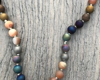 Multi Color Druzy Necklace
