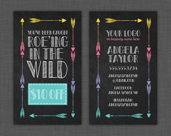 Roe-ing in the Wild Card, Roe Card, You've Been Caught, Chalkboard - Custom