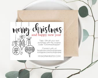Holiday card holiday business card christmas card etsy holiday card holiday business card merry christmas thank you card etsy seller thank you card etsy shop packaging small business ty23 colourmoves