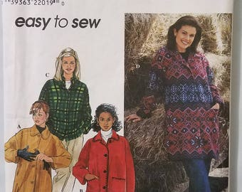 Simplicity 8299 - Misses' Jacket Pattern - Sizes Extra Small, Small, and Medium - Easy to Sew Ladies and Women's Jacket Pattern - UNCUT
