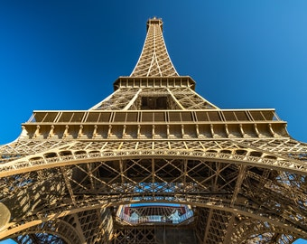 Looking Up the Eiffel Tower