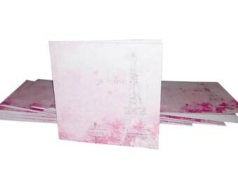Blank Mini Card Set of 10 / Thank You Cards/ Stationery Card Set/ Mini Card Set/ Mini Cards/ Lunch Box Notes/ Paris Cards