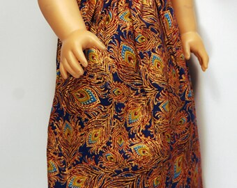 Handcrafted doll clothes designed to fit American girl dolls and other 18-inch dolls.  Simply Summer Maxi Length Sundress