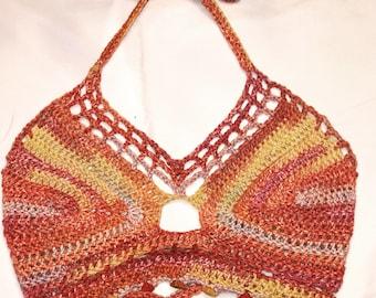 Crochet Boho Summerset Halter Top