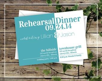 Fun Printable Rehearsal Dinner Invitation - Modern, Wedding Rehearsal Dinner Invitation - Digital Printable Invitation - DIY Invitation