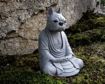Boston Terrier Buddha Dog Statue Concrete Statues Of Dog