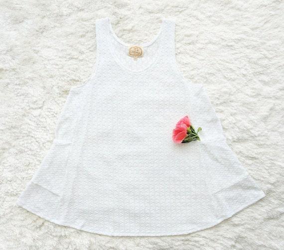 Pixie Pocket Dress / White Fishtail Textured Sweater Knit