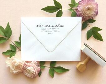 Address Stamp | Return Address Stamp | Custom Address Stamp | Rubber Stamp | Bridal Shower Gift | Wooden Handle Rubber Address Stamp