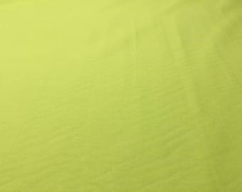 Lime Green Solid Cotton Fabric- 1 1/4 yd