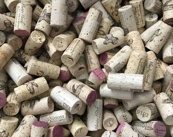 Corks, 50 Used Corks 100% Natural Wine Corks, Cork Craft Supply, Variety Of Corks From Vintage Winery