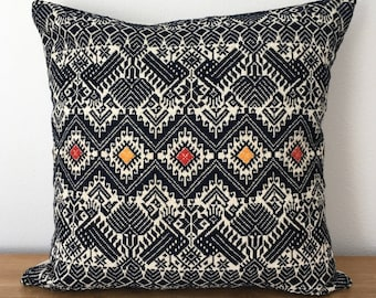 Vintage Ethnic Asian Handwoven Pillow Cover 16x16