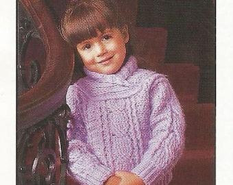 PDF Girl Crochet Sweater Pattern Sizes Child 4, 6, 8