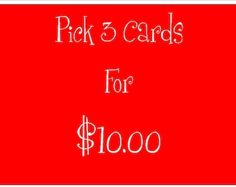 Set of Three Cards for Ten Dollars, Card Set, Pack of Cards, Set of Cards