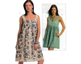 Women's A-line Tunic Top / Sundress Sewing Pattern Misses / Plus Size 14-16-18-20 UNCUT Butterick B5038
