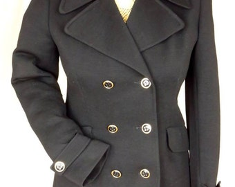 Original late 60's all wool ladies shorty coat