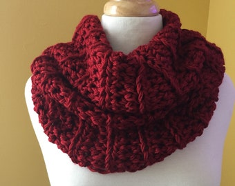 Chunky Crochet Cowl-Crochet Cowl-Infinity Scarf-Circle Scarf-Neckwarmer