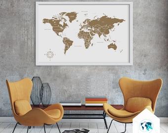 Cork world map corkboard map cork world map world map pin