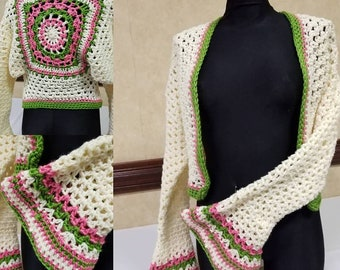 Multicolor Shrug- Sweater - Shrug - Shoulderette - AKA Colors - Custom colors Available