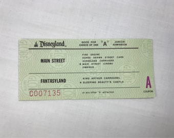 Disneyland A Ticket Admission from an Junior Ticket Book from 1979 795 E Coupon RARE!