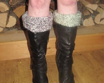 Funky hand knit boot toppers