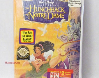 Vintage New Sealed Disney Hunchback of Notre Dame VHS Movie - Collectible Gift