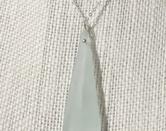 Sea Foam Green Sea Glass Necklace