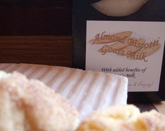 ALMOND BISCOTTI GOATS Milk Handmade Soap Bar