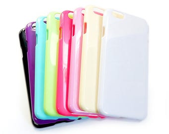 iPhone 6 Blank Case for DIY Phone Case available in White, Black, Blue, Pink, Clear, Red, Purple