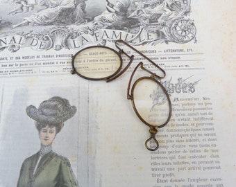 Vintage Antique eyeglasses pince nez  binocles