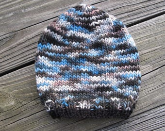 Polar Hand-Knitted Merino Wool Baby / Toddler Hat -- choose your size -- made to order