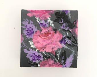 Midnight blooms - original acrylic painting
