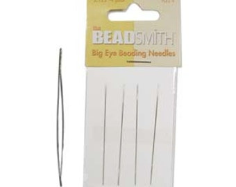Pack of 4  Big Eye Beading Needles by Beadsmith