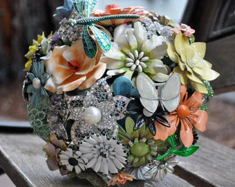 CUSTOM Vintage SHABBY CHIC Style Wedding Brooch Bouquet - to fit your style, budget & colors - plus lifetime guarantee