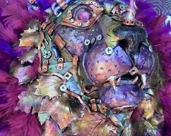 Steampunk Purple Lion Head