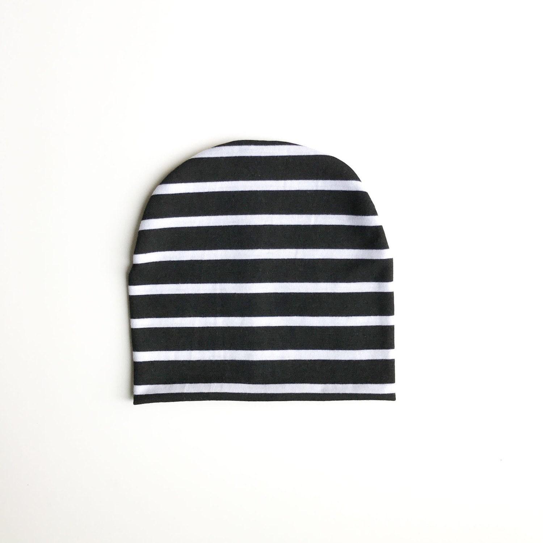 Black and White Stripe slouchy beanie baby slouchy beanie
