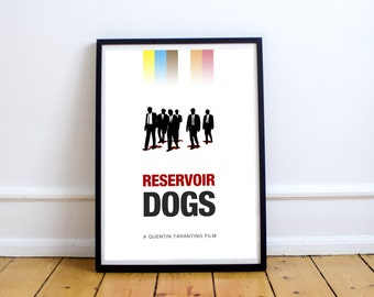 FREE SHIPPING** Reservoir Dogs - Movie Poster, Minimalist Poster, Film Poster, Movie Art, Reservoir Dogs Print, Movie, Print, Tarantino