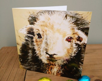 Herdwick sheep blank greetings card 'I Love Ewe', Valentine's card free P&P