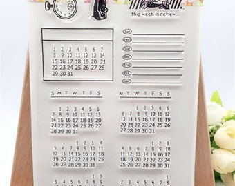 Bullet Journal Stamp - Plan For The Month! Collection. 1 Sheet Only, DIY, Clear Rubber Stamp, Scrapbooking.