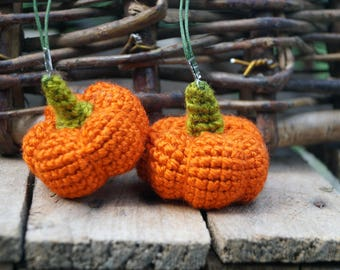 Halloween party favor autumn thanksgiving gift Pumpkin Decor jack o lantern Crochet Pretend food crochet pumpkin party favor keychain plush