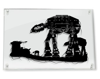 Star Wars AT AT Walker the Dark Side Imperial Darth Vader At-At Walker Hoth star wars art star wars gifts atat gifts for him FRAMED