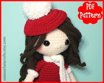 Candy, Doll Crochet Pattern, Crochet Doll Pattern, Christmas Doll, Doll Amigurumi, Christmas Amigurumi Pattern, Doll Plush, Christmas,